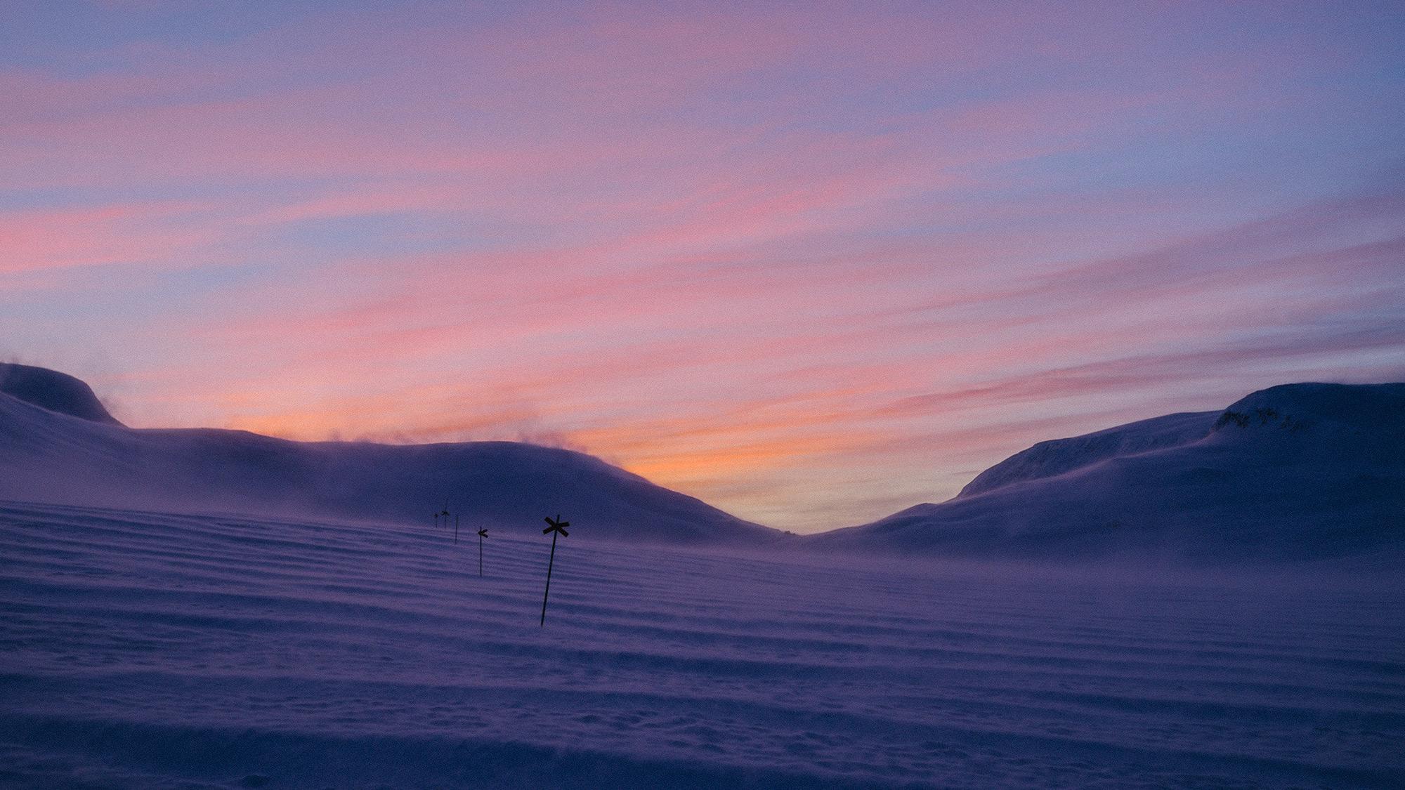 Polarnacht, Kungsleden, Schweden, Foto: Martin Hülle