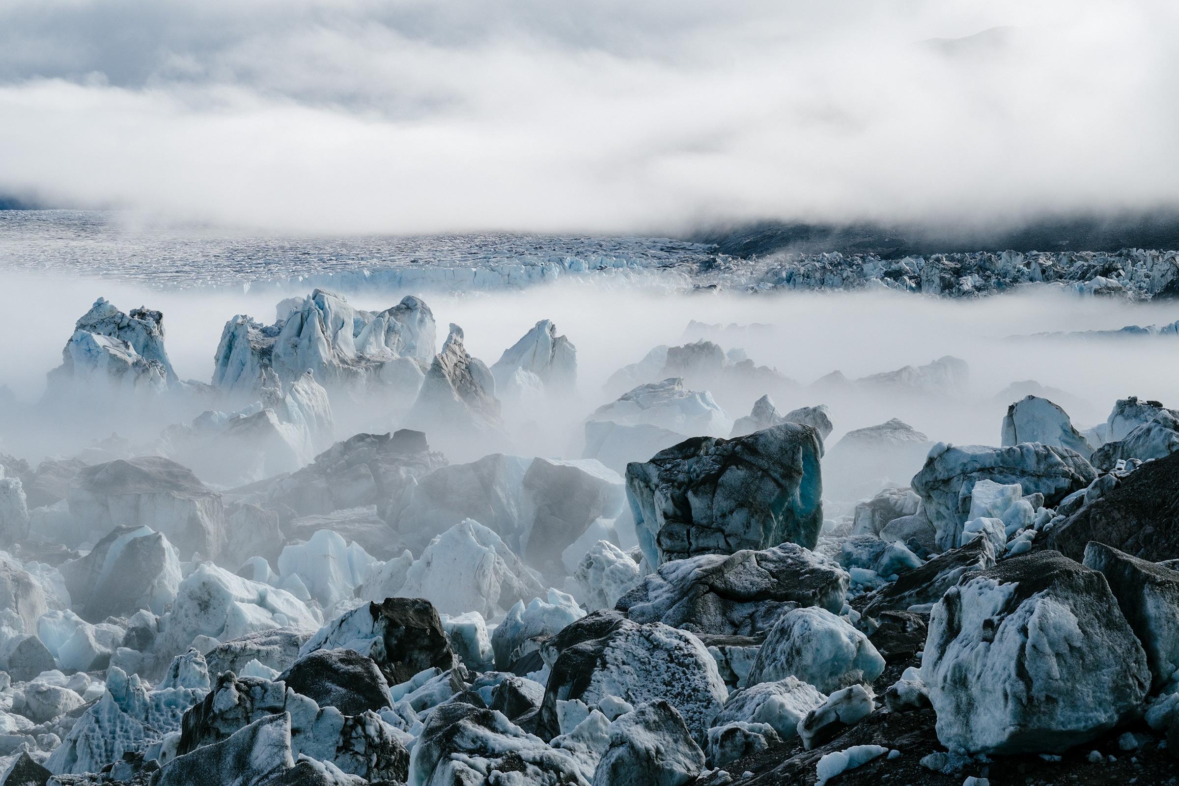 Hullet und Sydgletscher, Grönland, Foto: Martin Hülle