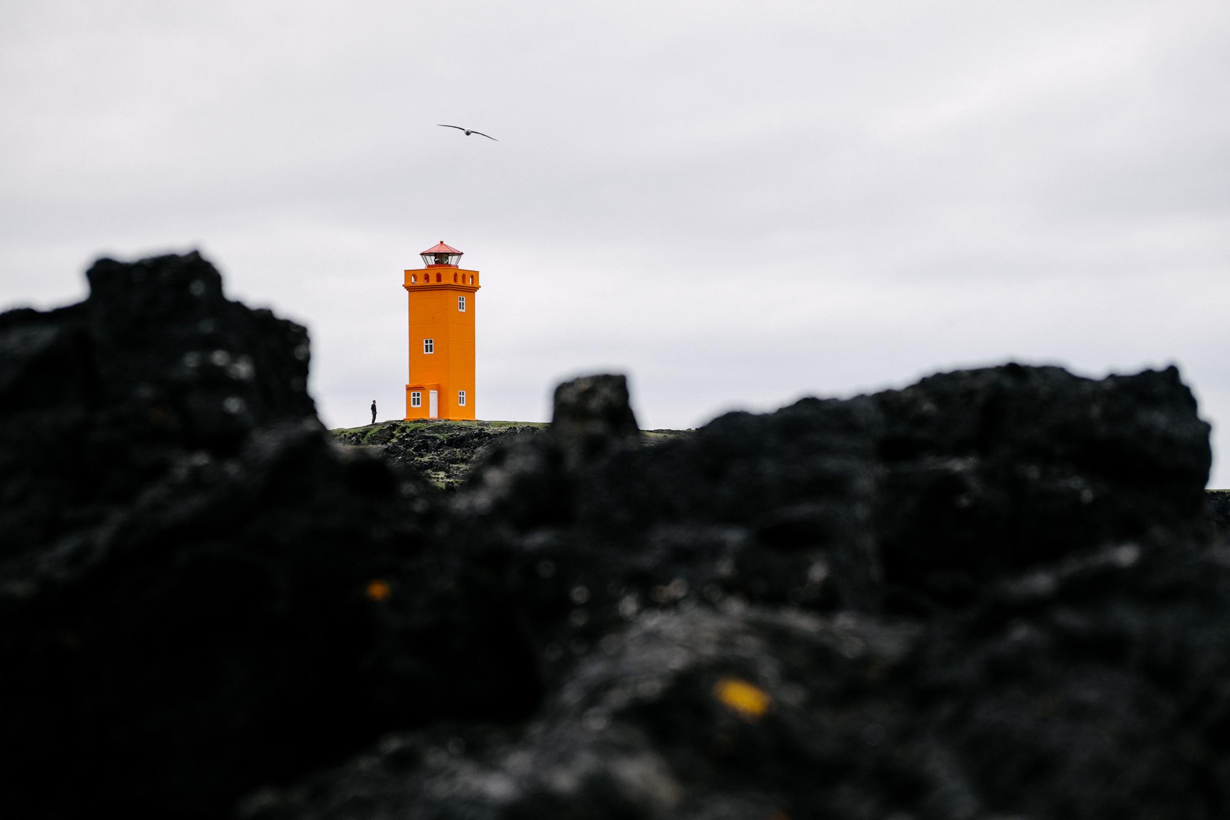 Leuchtturm Svörtuloft, Island, Foto: Martin Hülle